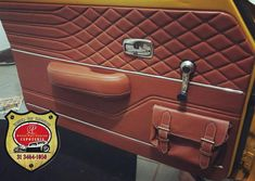 Pocket on door panel, yet still need room for small speakers Custom Car Interior, Car Interior Design, Truck Interior, Car Interior Upholstery, Automotive Upholstery, Vw T3 Syncro, Vw T1, Jetta Mk1, Truck Accessories