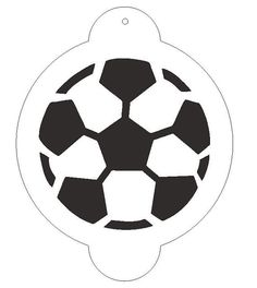 Soccerball Stencil for Decorating Cake #S119 --Free U.S. Shipping--