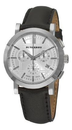 Burberry Mens BU1361 Heritage Gent Silver Chronograph Dial Watch -- Learn more by visiting the image link. (This is an Amazon affiliate link)