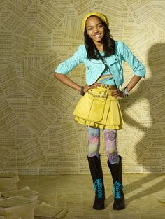 I know it's a super cheesy Disney show..... But China McClain's style for an 11 year old is so individual and full of character..... love it