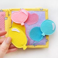 Mini quiet book for toddler sensory toy baby learning image 6 Diy Busy Books, Diy Quiet Books, Baby Quiet Book, Felt Quiet Books, Books For Boys, Learning Shapes, Baby Learning, Interactive Books For Kids, Interactive Learning