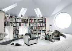Loft library ... A little bit Austin Powers ...