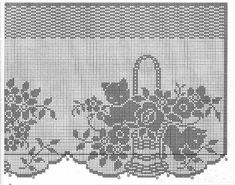 Pizzo cestini a) 5 Haziran 2014 - asuman emir - Picasa Web Album Filet Crochet Charts, Crochet Borders, Crochet Stitches, Knit Crochet, Crochet Curtains, Crochet Doilies, Sewing Patterns, Crochet Patterns, Cat Pattern
