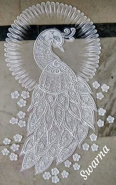 Indian Rangoli Diwali Easy Ideas Designs Hand My Passion Peacock Teeth