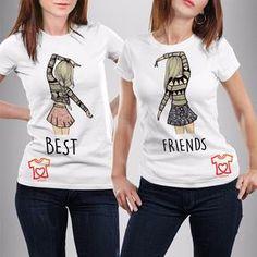 playeras personalizadas para mejores amigas - best friends