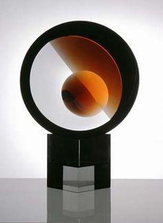Vlastislav Janacek, Czech Republic, O Sculpture for   The ABC of Glass Art.  Optic Glass, Cut & Polished