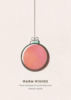 business holiday cards - retro ornament by nocciola design