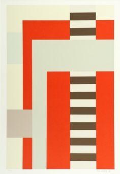 Juhana Blomstedt 1937-2010  COMPOSITION. (d)  Sign. -91. Serigraph, E.A, 5/15, 55 x 35,5 cm.