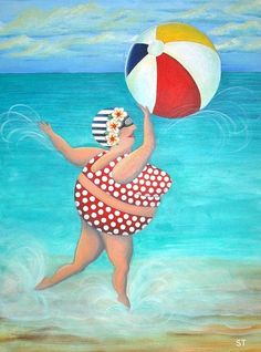 The hardest challenge is to be yourself in a world where everyone is trying to make you be somebody else.~E. E. Cummings    Image: Sylvia at the Beach Stephanie Troxell    (