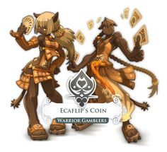 Ecaflip's Coin--An odd luck-based Warrior class of Wakfu. Solid Wikia page giving information based on the playable class.