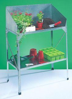 Garden Planting Table Planter Flower Potting Stand Self Galvanised Potting Bench