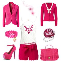 Cute Pink Short Outfit by alerogirl, via Polyvore