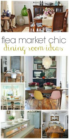Flea Market Chic-Dining Room Ideas | @cityfarmhouse1