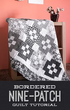 Bordered Nine Patch Quilt (The Cutting Table Quilt… Missouri Star Quilt Tutorials, Quilting Tutorials, Quilting Projects, Quilting Ideas, Msqc Tutorials, 9 Patch Quilt, Quilt Blocks, Jelly Roll Quilt Patterns, Star Quilt Patterns
