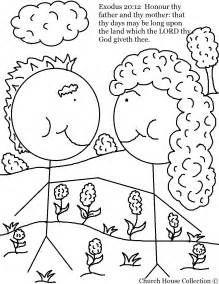 Free printable 10 commandments coloring and writing sheet