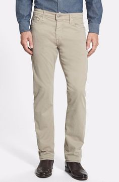 AG Adriano Goldschmied Men's Protege SUD Straight-Leg Green Pants 31x34 NWT $178 #AGAdrianoGoldschmied #CasualPants