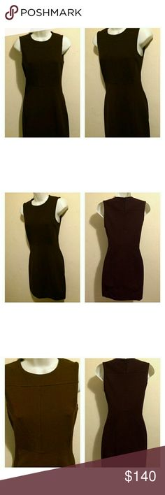 "DVF Reona Two in Aubergine,  Size 2 Gorgeous Diane von Furstenberg Reona Two dress.  Excellent condition  (like new).  Color: Aubergine (deep purple).  Size: 2.                                DESCRIPTION: This crew-neck DVF dress features hidden zips at the skirt and at the back. Sleeveless. Lined.  * 33"" long, measured from shoulder. * Fabrication: Stretch woven. * 85% viscose/9% polyamide/6% elastane. * Dry clean. * Imported. DVF Size Chart for Size 2: Bust: 33.5"" Waist: 26"" Low Hips: 36""…"