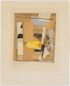 Pinc Kurt Schwitters  (German, Hanover 1887–1948 Kendal) Date: 1947 Medium: Cut, torn, and pasted papers and fabric, graphite, and ink mounted on paper Dimensions: H. 7-1/4, W. 6 inches (18.4 x 15.2 cm.) Classification: Drawings Credit Line: From the Collection of Dr. and Mrs. Samuel Ernest Sussman, Bequest of Blanche Risa Sussman, 1990 Accession Number: 1991.129.8 Rights and Reproduction: © 2011 Artists Rights Society (ARS), New York