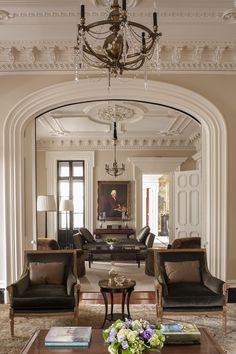 Charleston - Traditional - Living room - Images by SLC Interiors | Wayfair LOVE this detail  on the ceilings, colors , chandelier
