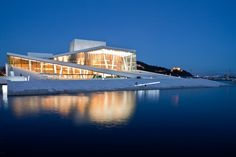The Opera House in Oslo, Norway - It is the most amazing place!