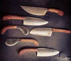 Chelsea Miller Knives.  Chelsea Miller Knives  Vermont native Chelsea Miller handmakes these knives one at a time using local materials. The knife blades are made from discarded farriers, a tool used in the shoeing of horses and the handles, made of Apple, Spalted Maple and Cherry wood are also sourced in the Green Mountains of Vermont. $350-$450