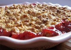 My go-to strawberry - rhubarb crumble recipe. (Apologies to the pinterest gods for borrowing an image)