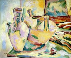 Georges Braque (France 1882-1963)Still life with Jugs and Pipe (c. 1906) oil on canvas 52 x 65 cm