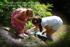 #46 Great entry, Anna, thanks! The photograph shows her daughters exploring the local spring in summertime. Caption: 'Love nature and take care of it as you would your own child, and it will take care of you'.