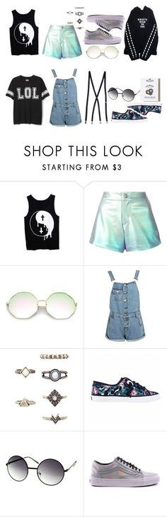 """""""Hipster/ casual"""" by ayeeeitsfatso ❤ liked on Polyvore featuring Manish Arora, Boohoo, Sperry, Vans and Hollister Co."""