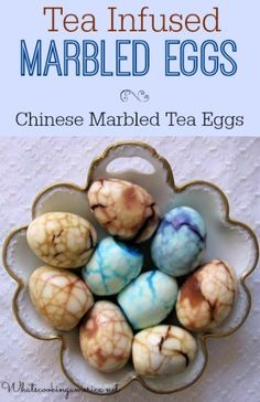 Tea Infused Marble Eggs make an interesting alternative to the usual hard-cooked eggs served for Easter and also at afternoon teas. Black Tea Leaves, Easter Egg Dye, Tea Eggs, Tea Infuser, How To Make Tea, How To Cook Eggs, Egg Decorating, Holiday Crafts, Holiday Ideas