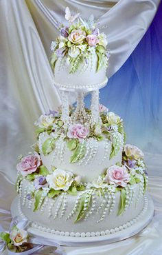 Gorgeous Wedding Cake By Scott Woolley - (cakesbydesign)