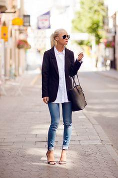 Shoes – Zara, Jeans – JC Crocker, Bag – Michael Kors, Shirt – JC, Blazer – H&M (image: victoriatornegren)