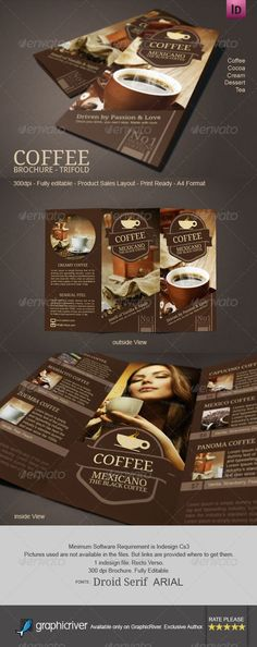 Coffee Shop Menu Shops, Menu design and Coffee shop menu - coffee shop brochure template