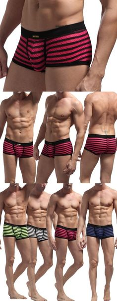 Man Boxers: Zebra Mens Underwear Shorts Stripe Gauze Boxer Brief Underpants Pink Size L BUY IT NOW ONLY: $4.99