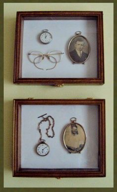 shadow box with Gramma's things ♥ I need to make one!