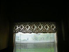 Crochet cotton valance- free pattern link at ravelry