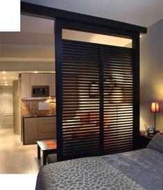Разделение зон в спальне-гостиной