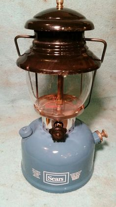Vintage Sears  SINGLE Mantle, Blue Lantern made by Coleman. Nicely Restored. #Coleman