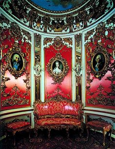Pink Cabinet, Linderhof Castle, Germany; 10/77 - Frances - Picasa Web Albums Palace Interior, Interior And Exterior, Cafe Interior, Beautiful Castles, Beautiful Places, Pink Cabinets, Linderhof Palace, Christian Lacroix, Grand Homes