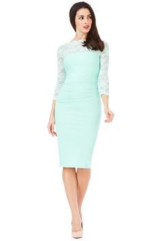 Discover the latest trends and names-to-know in womenswear, menswear, beauty and home at Secret Sales. Fitted Midi Dress, Lace Midi Dress, Bodycon Dress, Dresses For Sale, Dresses For Work, Dress Sale, Secret Sale, Lace Dress With Sleeves