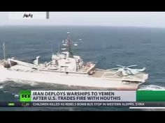 Iranian warships deployed off Yemen coast after US bombs Houthi targets - YouTube