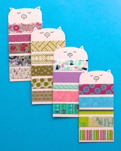 I Make Washi Tape Sample Cards Out Of Recycled Rigid Plastic