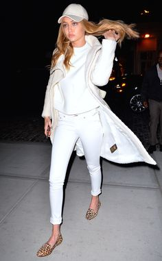 Gigi Hadid in white skinny jeans should be enough proof your closet's been missing something.