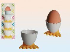Eierbecher Kunststoff auf Entenfüßen 12 Stück Set