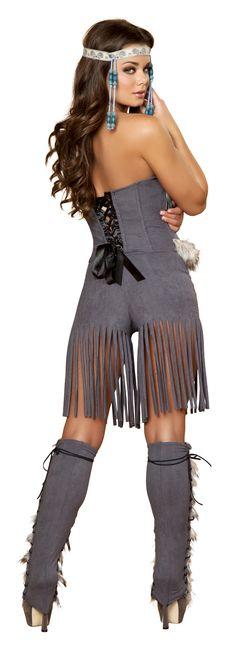 Three Piece Indian Hottie Native American Halloween Costume RM-4428