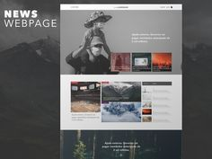 News Landing Page by The Landmark Landing Page Design, News