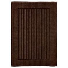 Threshold Performance Bath Mat Dark Brown Bathroom Rug