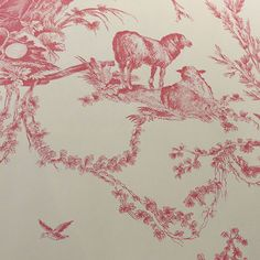 Pierre Deux wallpaper pattern Quatre Saisons - Rose DPX09754W #pierredeux #pierre #deux #designer #wallpaper #closeout #designerwallpaper #closeoutwallpaper #wall #paper #interiorwallcovering #wallcovering