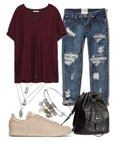 """""""Untitled #503"""" by hadar777 ❤ liked on Polyvore featuring Abercrombie & Fitch, H&M, Zara, adidas and Topshop"""