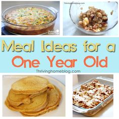 Meal Ideas for baby girl